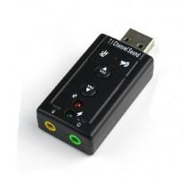 USB звуковая карта адаптер аудио с кнопками 7.1