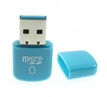 USB 2.0 MicroSD кардридер разноцветный