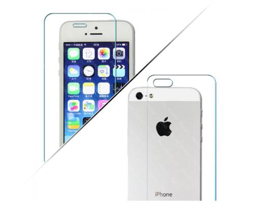Стекло защитное iphone 5 перед + зад